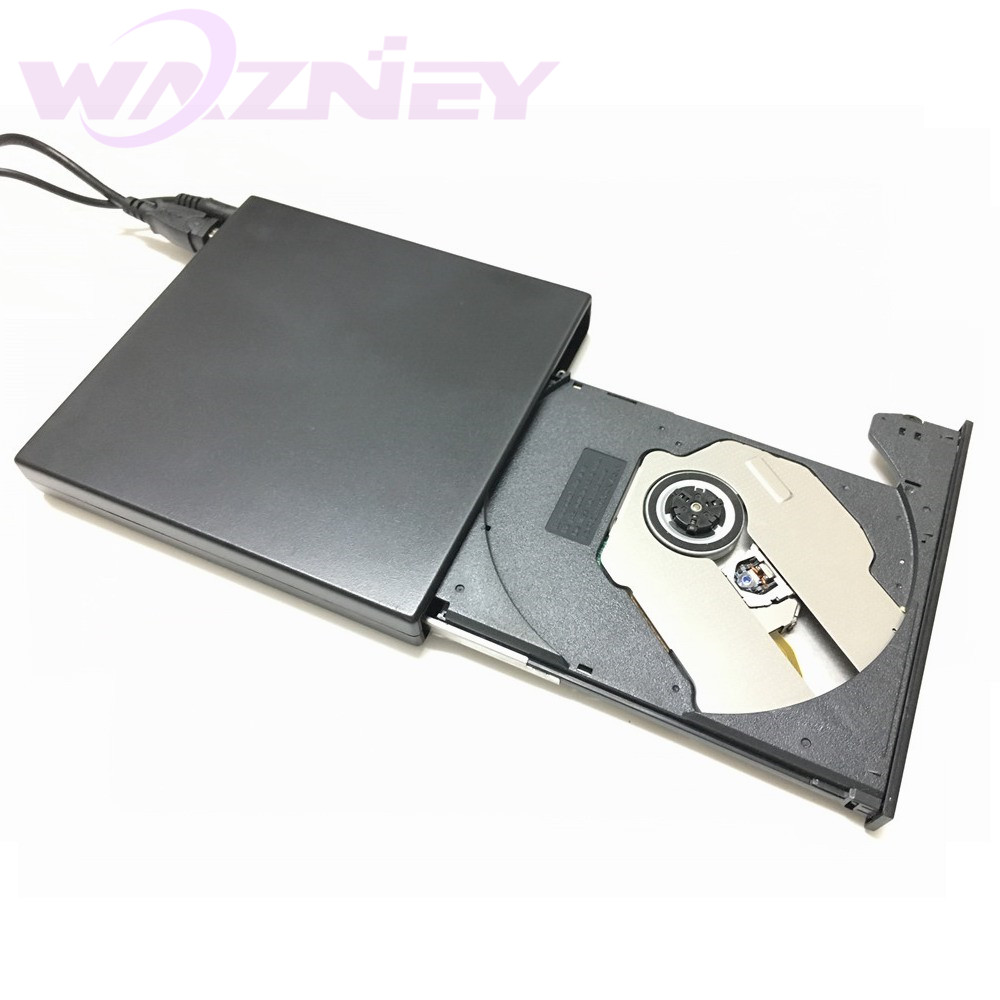 USB 2.0 External DVD Combo DVD-RW CD-RW Burner Drive CD+-RW DVD ROM Black USB SLIM portable optical drive