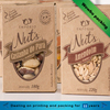 high quality food grade kraft paper roasted nuts packaging box with pvc window