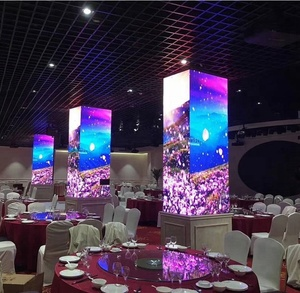 Customized high quality digital signage panels P2.5 P3 P4 P5 P6 indoor cubic 360 degree square LED display screen