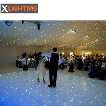 2019 portable round white led dance floor rental