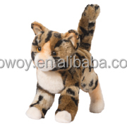 plush cat custom stuffed cat animals plush Bengal cat with logo imprinted plush animal toy ps011
