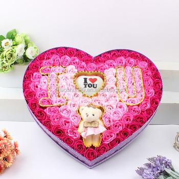 Murah Sabun Bunga Mawar Sabun Dengan Bentuk Hati Kotak Hadiah