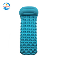 Factory wholesale custom travel camping hiking backpacking self inflating tpu sleeping pad outdoor air mattress