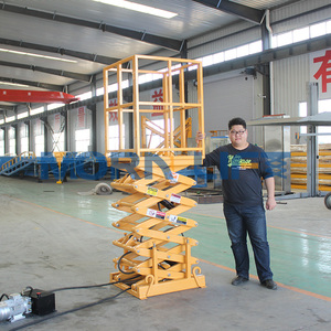 Mini cargo hydraulic industrial used warehouse stationary scissor lift