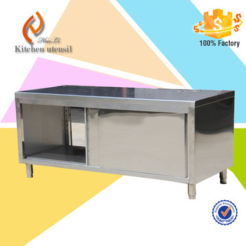 Stainless Steel Single Deck Cabinet Burger Restaurant Equipment Cheap  Stainless Steel Kitchen Cabinets