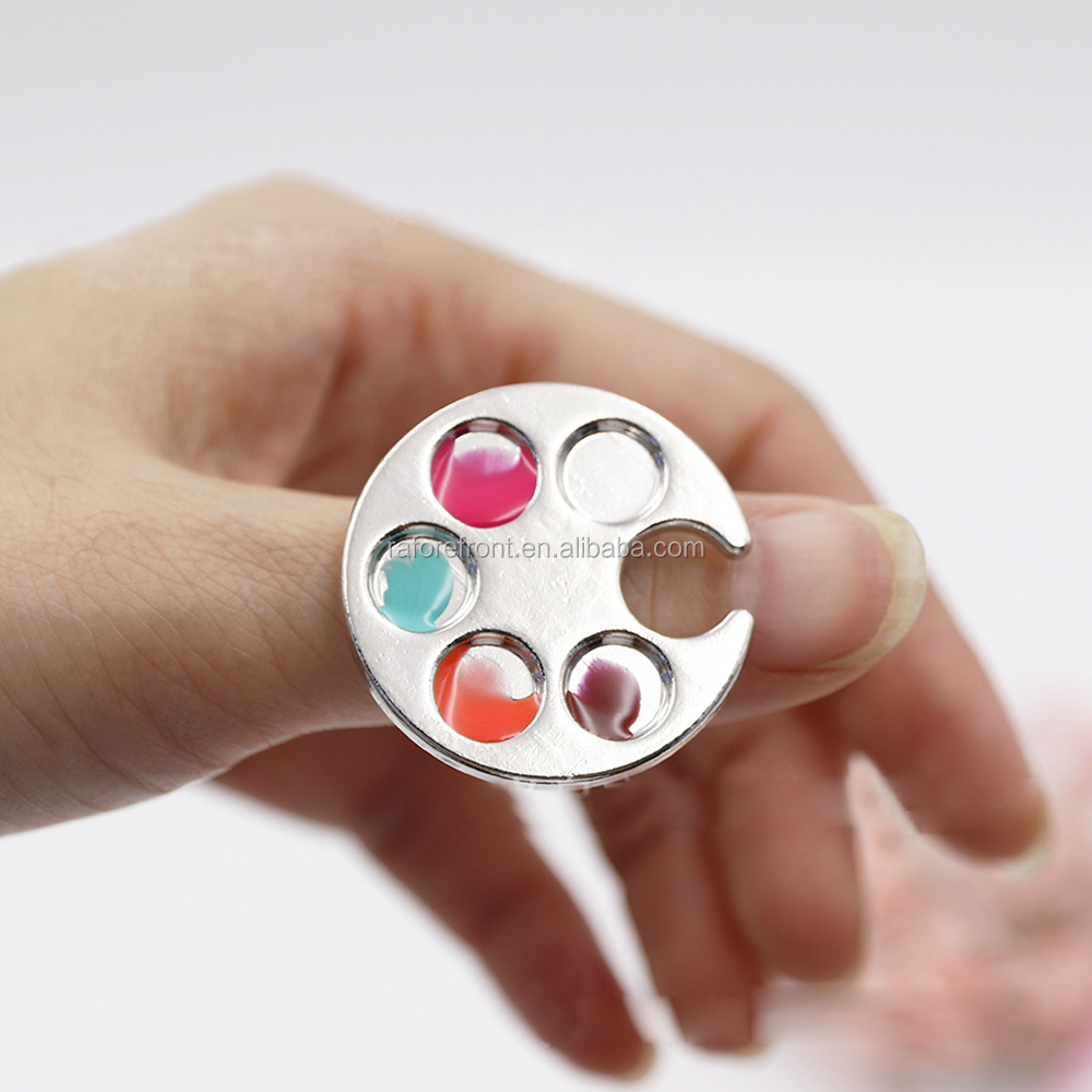 Mini Finger Palette Nail Paint Mixing Palette for DIY Nail Art Design