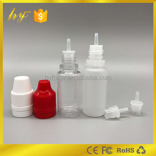 Wholesale in UK market 10ml e liquid bottle with childproof and tamper proof cap from manufacturer made in China