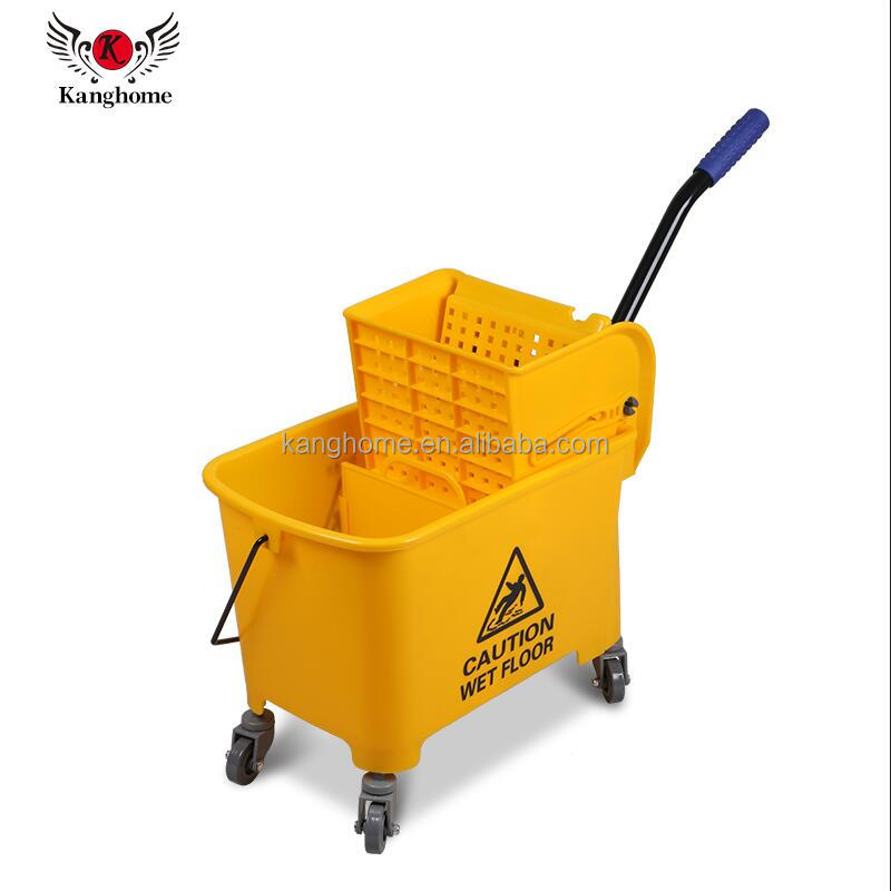 Down-press cleaning mop bucket and wringer deluxe plastic mop bucket wringer mini mop wringer