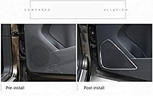 Mandydov 4pcs Stainless Inner Door Speaker Decoration Cover Trim For VW Tiguan 2010-2015 2010 2011 2012 2013 2014 2015