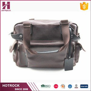 Wholesale blank bags men leather bag PU tote