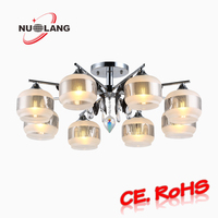 Fashionable style iron pendant lights modern/modern chrome iron chandelier