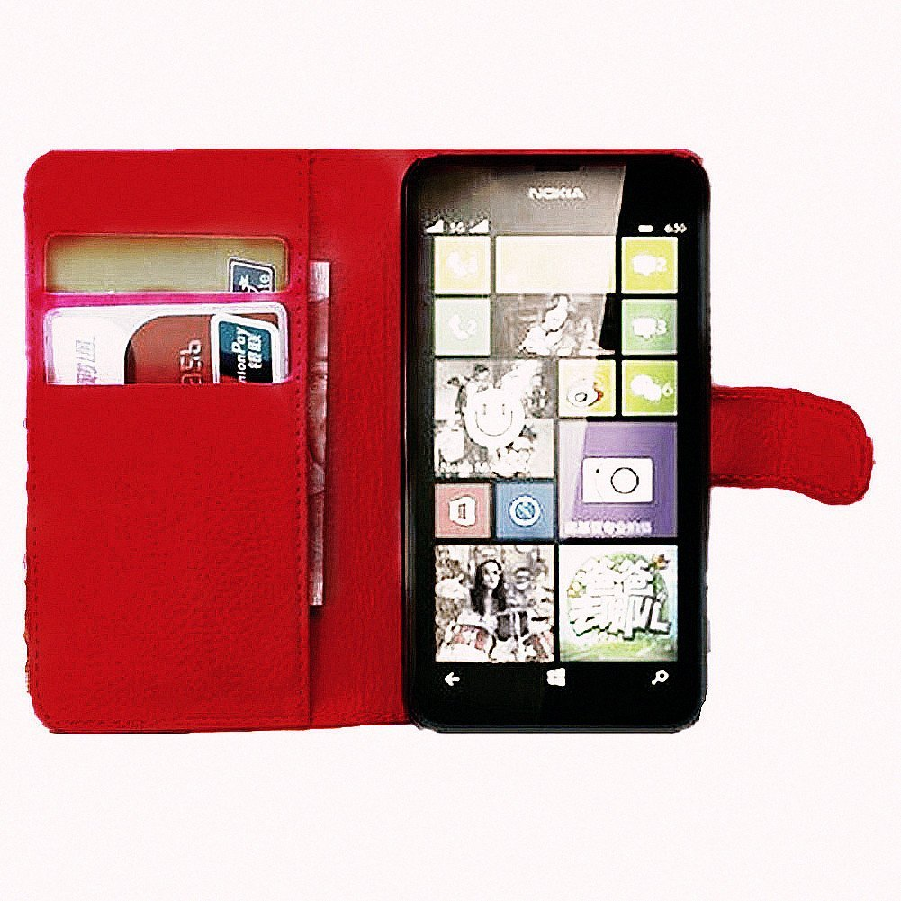 Cheap Nokia Red Find Deals On Line At Alibabacom Lumia 520 8gb Get Quotations Turpro Pu Leather Flip Folio Wallet Cover Case With Stand And Card Holders For