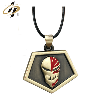 Street trend wholesale cheap custom 3d enamel Ancient Gold metal dog tag with necklace