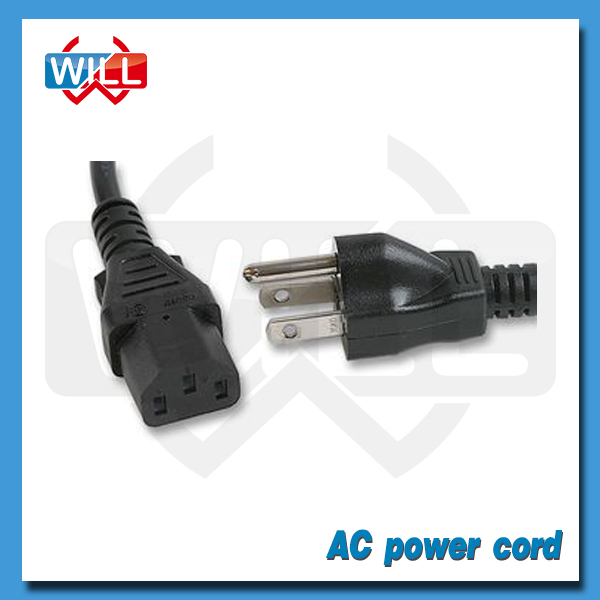 UL certified 2.5a 10a American standard notebook AC power cord