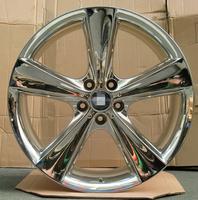5x120 inch chrome 5 spokes car alloy wheel rims for auto wheels