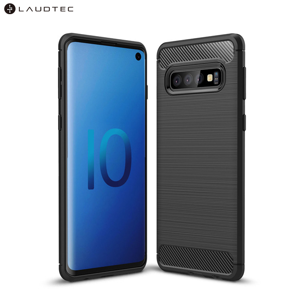 Carbon Fiber Tpu Silicone Back Cover Phone Case For Samsung galaxy S10 фото