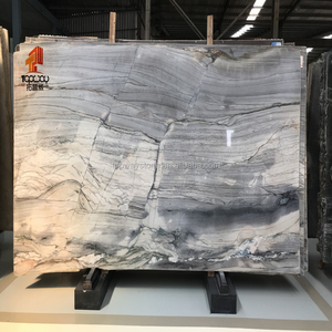 High polished Blue Marine marble slab hot sale for tiles,countertop,blue marble slab with veins
