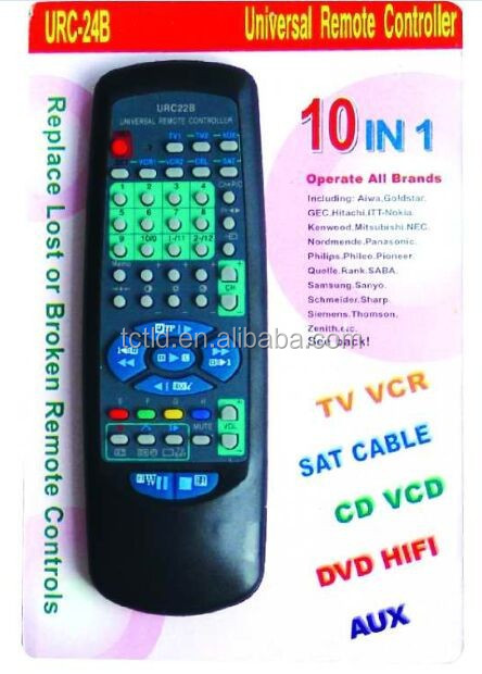 URC-22B universal 10 in 1 remote control operate all brand China supplier