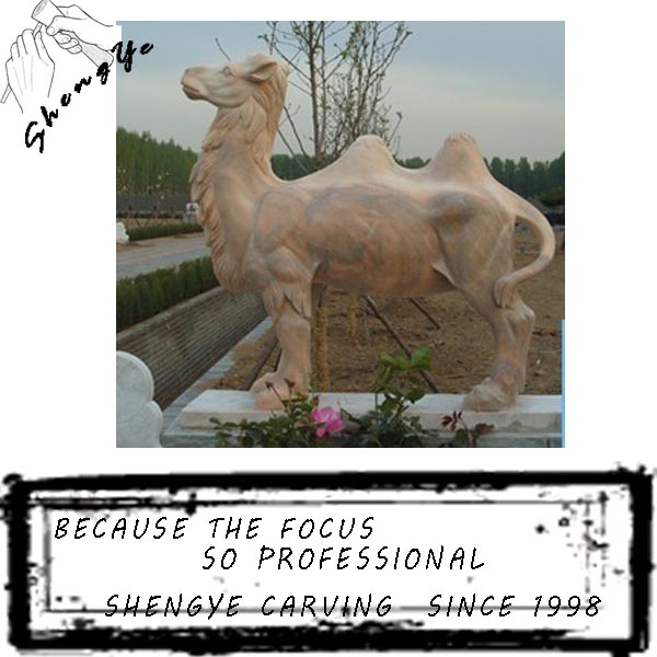 Carved marble mideast camel sculpture