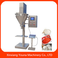 semi auto chilli pepper powder/spices powder filling packing machine