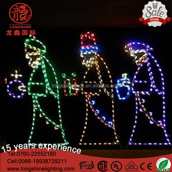 Led large nativity 3 wise men white christmas lights for holiday led large nativity 3 wise men white christmas lights for holiday outdoor decoration aloadofball Gallery