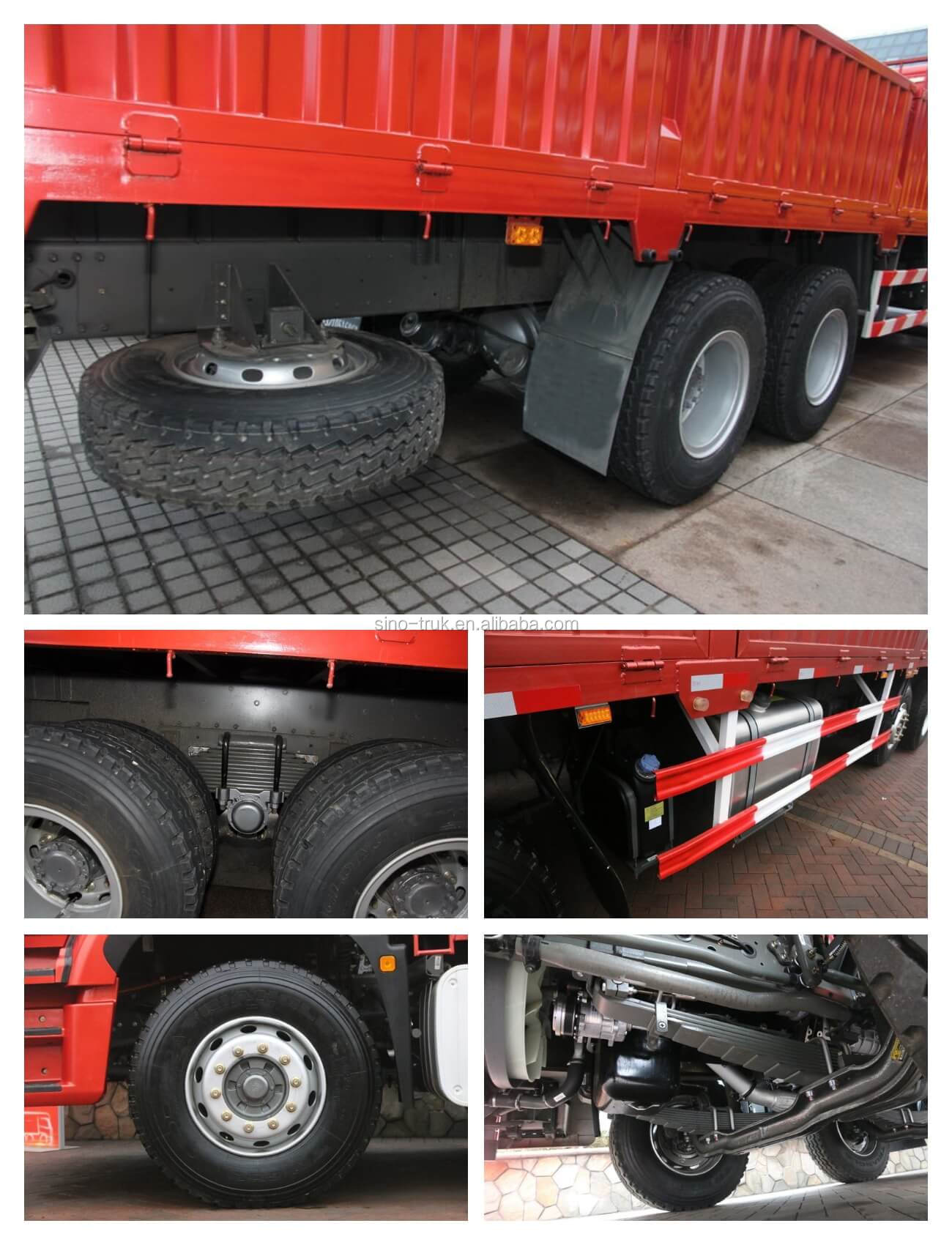 China Sinotruk Hohan 8x4 31ton Fence Stake Cargo Truck For