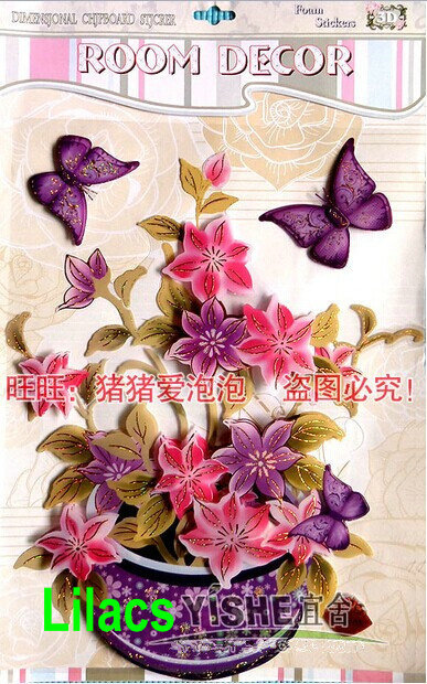 10 types diffrent flowers  Orchid Flowers sitting room/refrigerator  Wall  Poster  Wallpaper Sticker Home wedding Decoration