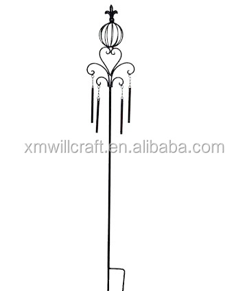 garden decoration with wind chimes Metal Garden Stake