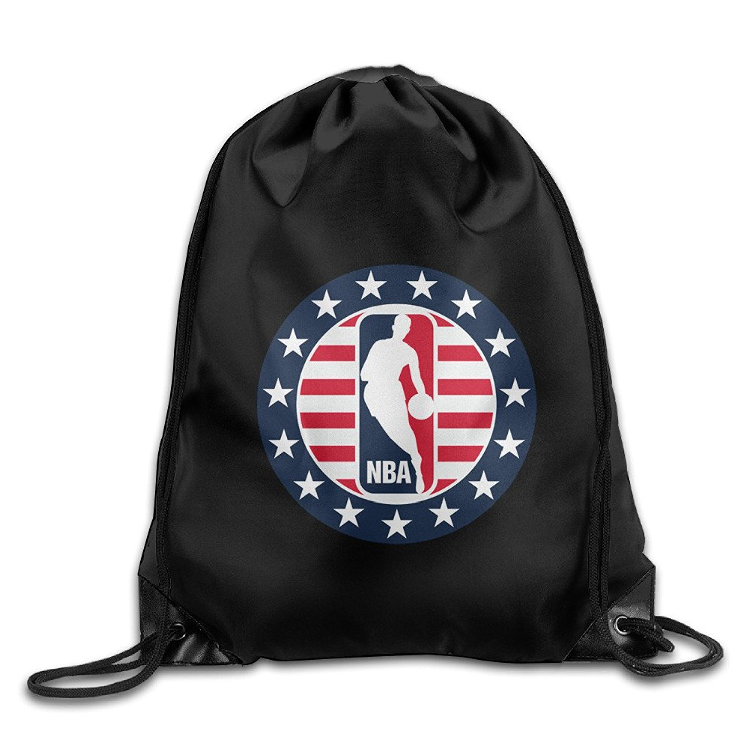 606e229e68 Get Quotations · NBA Hoops For Troops Logo Drawstring Backpack Bag White