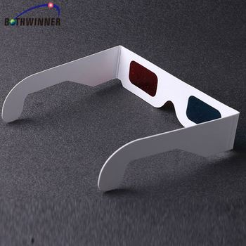 Wholesale products paper red cyan 3d glasses zrmh0t disposable 3d glasses