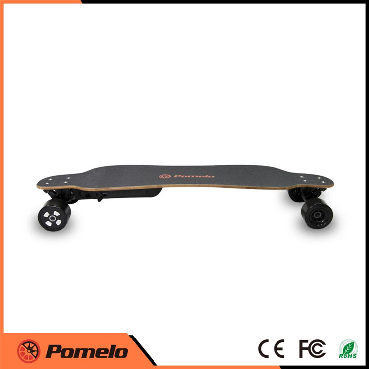 2017 cheap remote control hub motor 4 wheels electric skateboard with removable battery pack