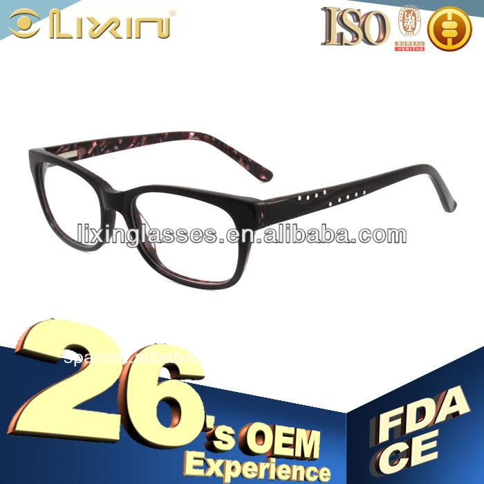 dos costuras de color de moda los patrones de punto gafas marco ...