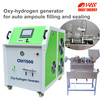 HHO powered brown gas generator automatic ampoule fill and sealing machine