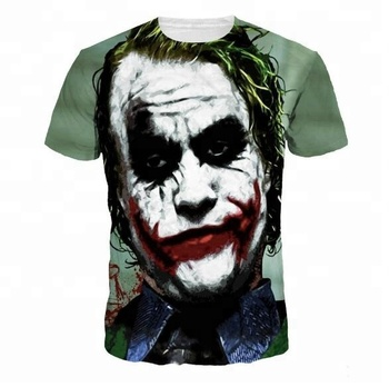 OEM cheap sublimation printed t shirt 3d printing custom