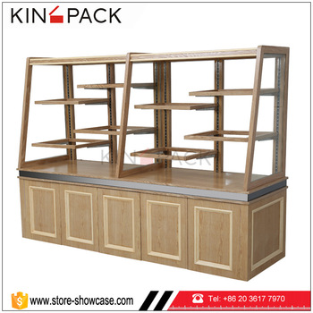 Good Quality Wooden Bakery Furniture Display Shelves Bread Showcase Rack Unit For Sale View Bakery Furniture Kingpack Product Details From Guangzhou