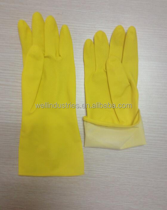 Cheap Dipped Unlined Latex Household Gloves