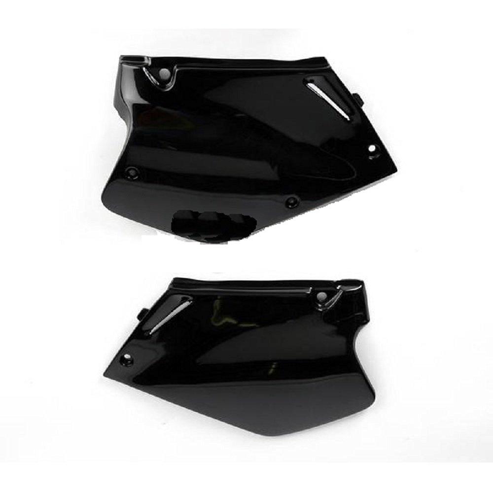 Ufo Black Side Plates and Keepitroostin Sticker Fits Honda Cr250 1995-1996