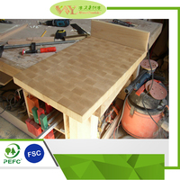 High Quality Natural Beech End Grain Block Countertop 100% Solid Wood Block