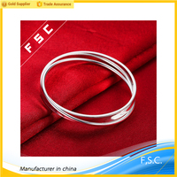 Top selling wholesale fashion jewelry handmade silver plated circular copper bracelets for women