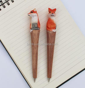 Animals - fox wood promotional pens to stationery gift and promotion