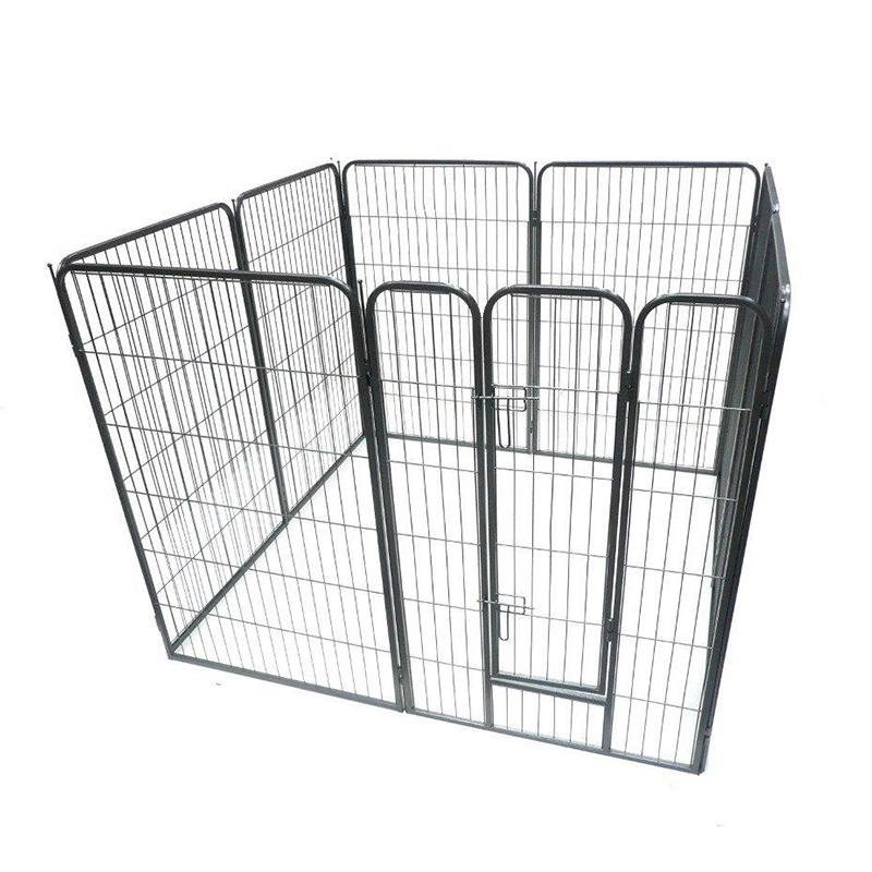 eight panels folding portable metal wire puppy pet fence