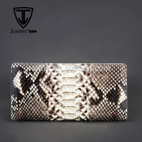 High Quality Authentic Python Leather Bifold Checkbook Cover