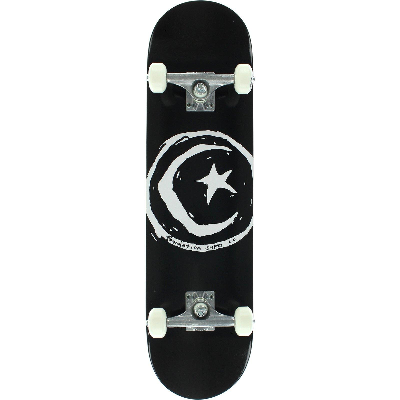 "Foundation Skateboards Star & Moon Complete Skateboard - 8"" x 31.625"""