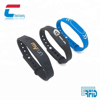 NTAG 213 / NTAG 215/ NTAG 216 nfc 13.56 mhz RFID silicone wristbands for events
