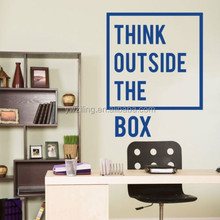 D706 Think outside the box Inspirational Motivational Quotes Office Wall Decal Art Decor Wall Stickers