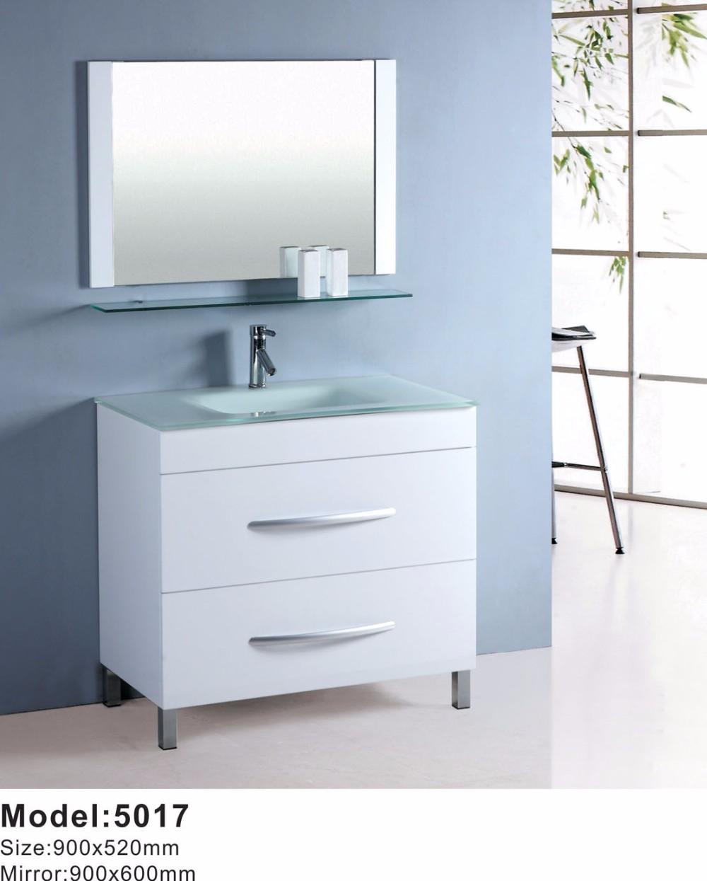 Mirror Glass Floor Standing Tall Bathroom Vanity Cabinet - Buy ...