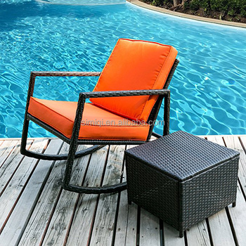 Print Pool Chair Outdoor Papasan Chair Waterproof Seat Cushion Cover