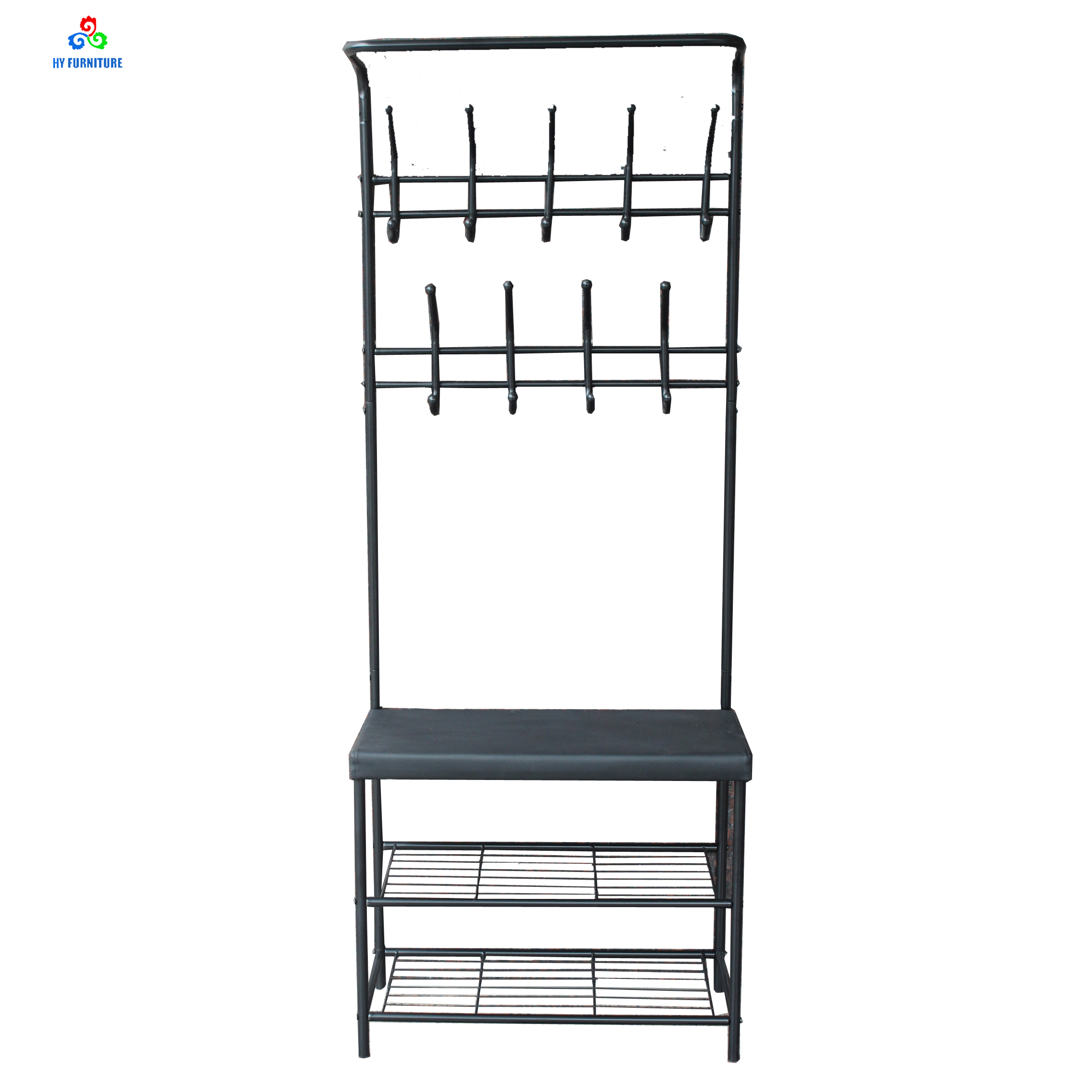 Hallway Organizer Metal Coat Garment Rack Hooks With Shoe Storage Leather Bench Buy Garment Rack Hooks Metal Coat Rack Shoe Storage Leather Bench Product On Alibaba Com