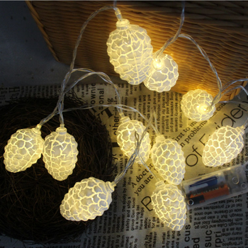 Multi Color Crack Pine Cone String Lights For Christmas Party
