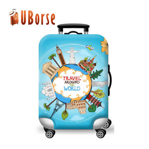 Uborse hot sale travel suitcases bags luggage spandex protector cover